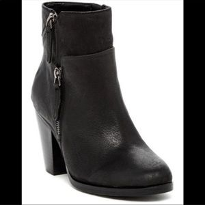 Vince Camuto Hinnegan Black Leather Ankle Boot 8